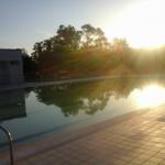 Lever du jour piscine